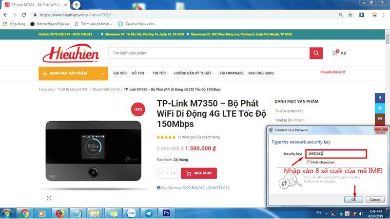 hướng dẫn cấu hình tp-link m7350 - bộ phát wifi 4g di động qua trình duyệt web - hình 01
