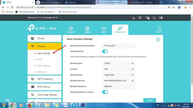 hướng dẫn cấu hình tp-link m7350 - bộ phát wifi 4g di động qua trình duyệt web - hình 06