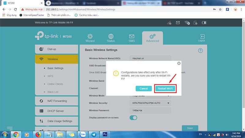 hướng dẫn cấu hình tp-link m7350 - bộ phát wifi 4g di động qua trình duyệt web - hình 08