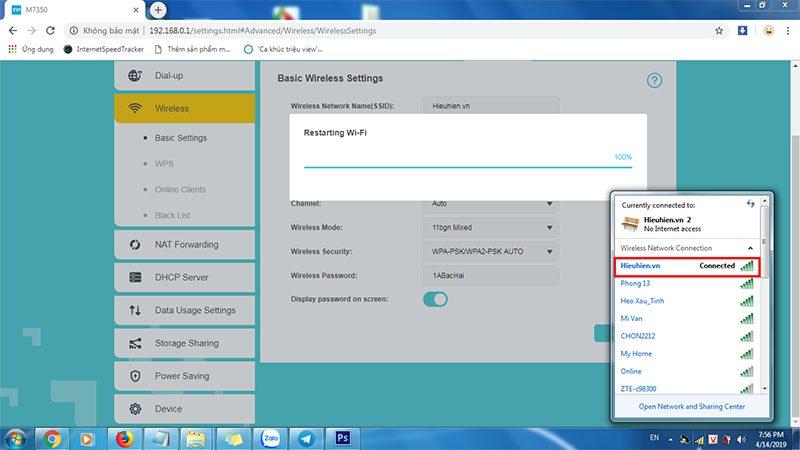 hướng dẫn cấu hình tp-link m7350 - bộ phát wifi 4g di động qua trình duyệt web - hình 09