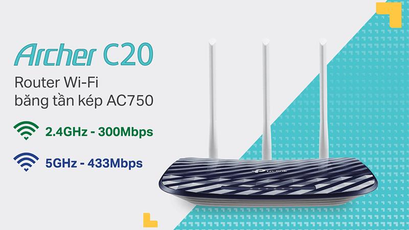 hướng dẫn cài đặt tp-link archer c20 để phát sóng wifi với 2 băng tần - hình 01