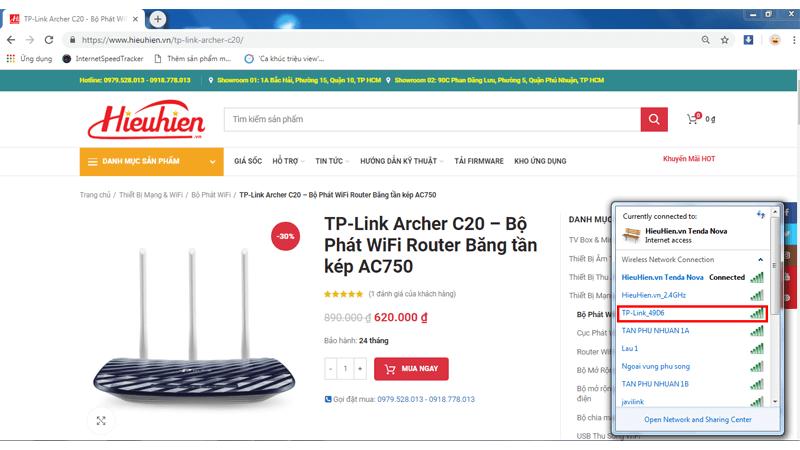 hướng dẫn cài đặt tp-link archer c20 để phát sóng wifi với 2 băng tần - hình 02