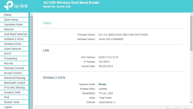 hướng dẫn cài đặt tp-link archer C50 để phát wifi trên cả 2 băng tần - hình 06
