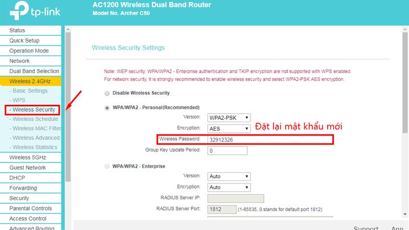 hướng dẫn cài đặt tp-link archer C50 để phát wifi trên cả 2 băng tần - dat ten