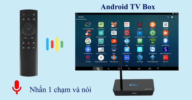 hướng dẫn tìm kiếm bằng giọng nói trên android tv box - hình 01