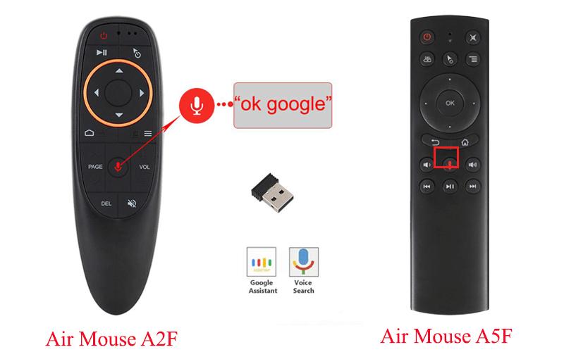 hướng dẫn tìm kiếm bằng giọng nói trên android tv box - chuột bay a2f và a5f