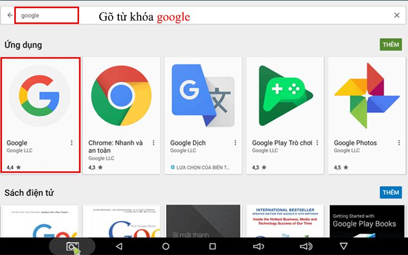 hướng dẫn tìm kiếm bằng giọng nói trên android tv box - tải google