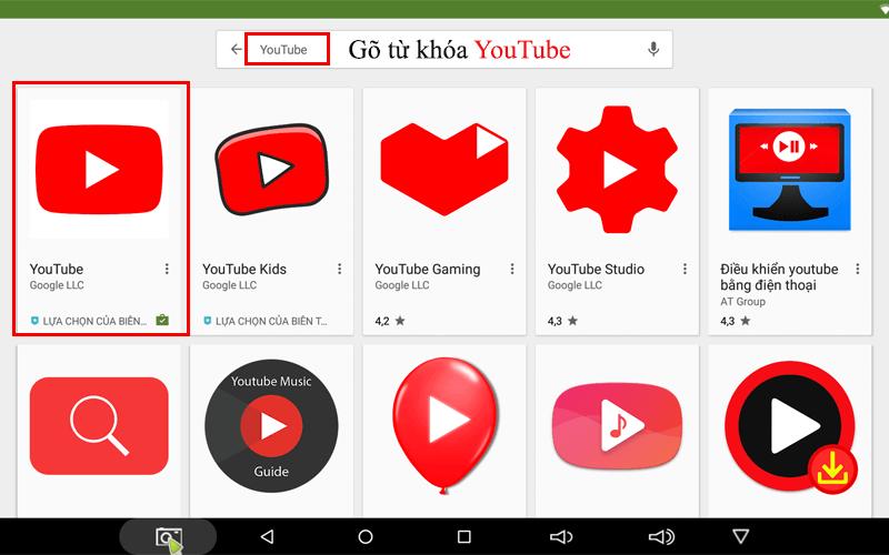 hướng dẫn tìm kiếm bằng giọng nói trên android tv box - tải youtube