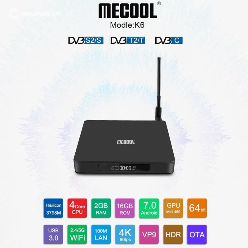 mecool k6 android 7.0 tv box tích hợp đầu thu truyền hình dvb-s2-t2-c - hình 10