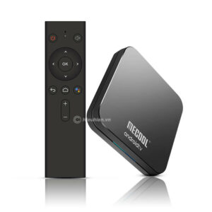 mecool km9 pro android tv 9.0 chip s905x2 4gb/32gb, có voice remote - hình 01