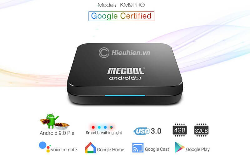 mecool km9 pro android tv 9.0 chip s905x2 4gb/32gb, có voice remote - hình 16