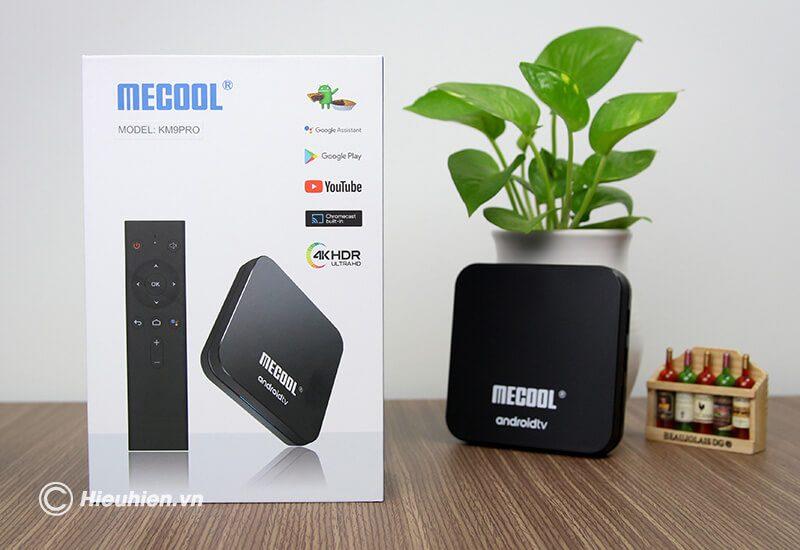 mecool km9 pro android tv 9.0 cấu hình cao chip s905x2, ram 4gb rom 32gb, có voice remote - hình 01