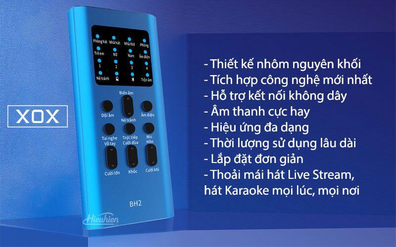 xox bh2 - sound card hát karaoke, hát live stream cho điện thoại - hình 11