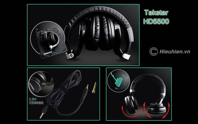 takstar hd 5500 - tai nghe kiểm âm chuyên nghiệp cao cấp - hình 10