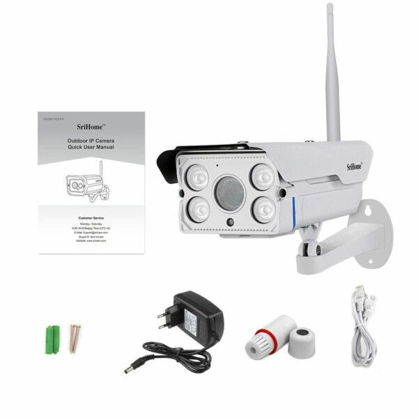 srihome sh027 - camera ip wifi ngoài trời, hỗ trợ thẻ nhớ 128gb - hình 02