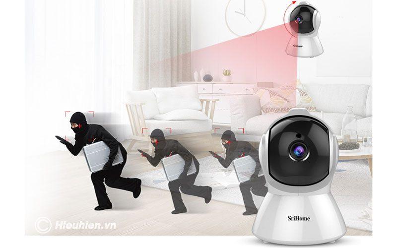 srihome sh025 full hd 1080p - camera ip wifi giám sát không dây - hình 04