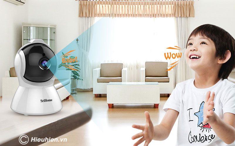 srihome sh025 full hd 1080p - camera ip wifi giám sát không dây - hình 05