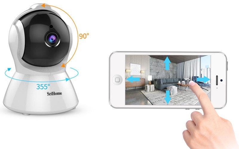 srihome sh025 full hd 1080p - camera ip wifi giám sát không dây - hình 06