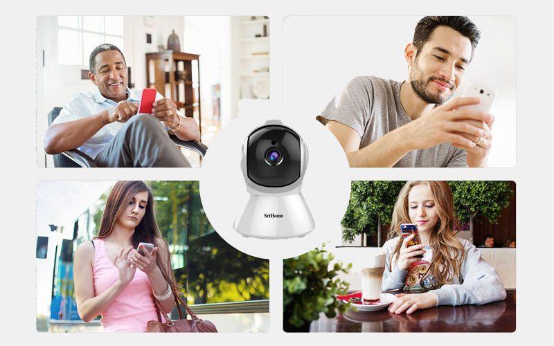 srihome sh025 full hd 1080p - camera ip wifi giám sát không dây - hình 07