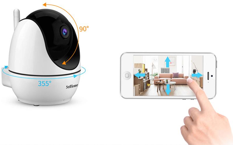 camera ip wifi srihome sh026 full hd 1080p chất lượng cao - hình 09