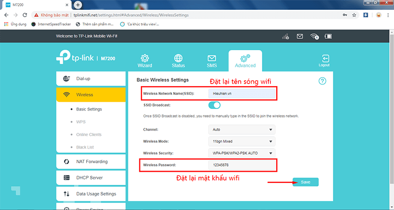 hướng dẫn chi tiết cấu hình tp-link m7200 - bộ phát wifi 4g di động - hình 09