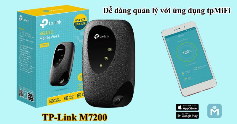 cách cấu hình bộ phát wifi 4g tp-link m7200 bằng ứng dụng tpmifi
