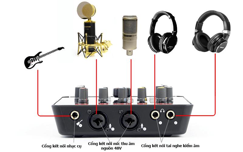 hướng dẫn lắp đặt và sử dụng sound card icon upod pro - hình 02