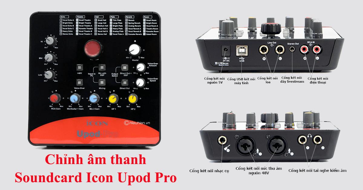 hướng dẫn lắp đặt và sử dụng sound card icon upod pro