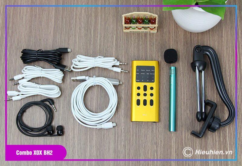 hướng dẫn sử dụng combo xox bh2 kèm micro xox mh1 - bộ livestream trên điện thoại - hình 01