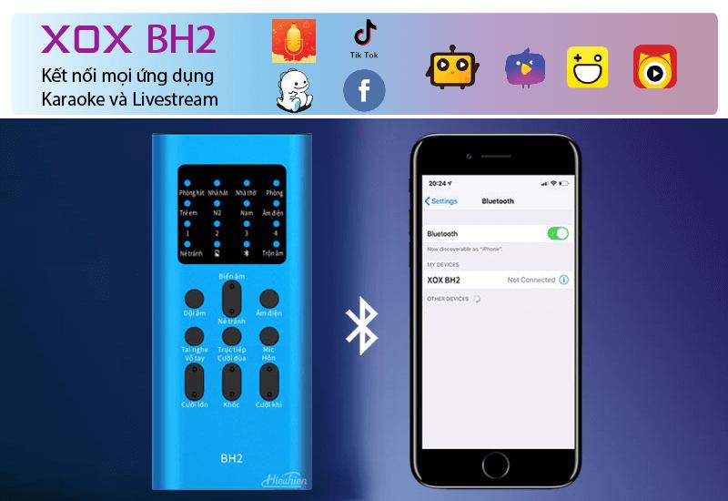 hướng dẫn sử dụng combo xox bh2 kèm micro xox mh1 - bộ livestream trên điện thoại - hình 05
