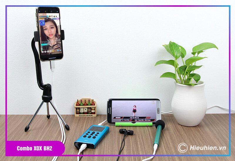 hướng dẫn sử dụng combo xox bh2 kèm micro xox mh1 - bộ livestream trên điện thoại - hình 06