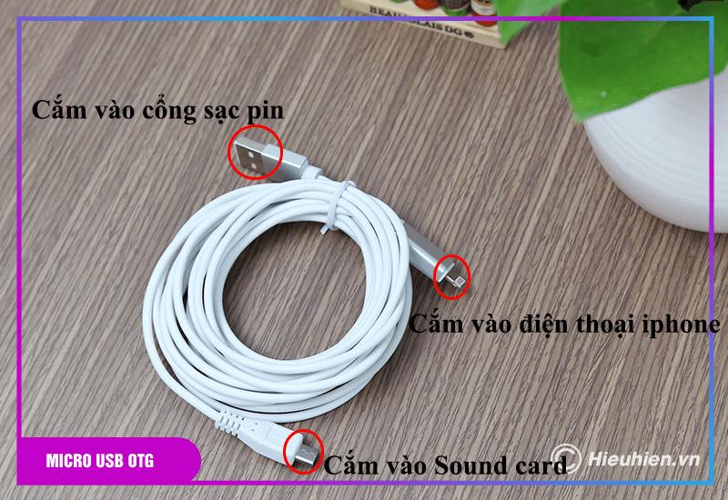 hướng dẫn sử dụng combo xox bh2 kèm micro xox mh1 - bộ livestream trên điện thoại - hình 07