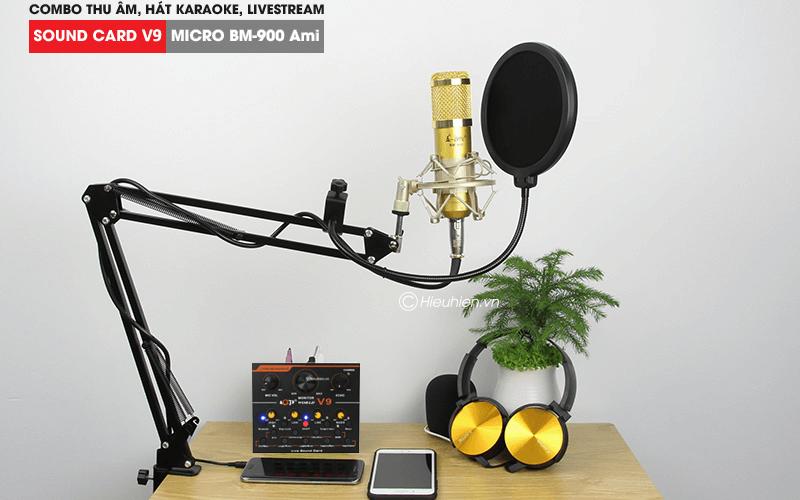 hướng dẫn chi tiết lắp đặt và sử dụng sound card v9 thu âm, livestream - hình 03