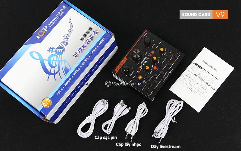hướng dẫn chi tiết lắp đặt và sử dụng sound card v9 thu âm, livestream - hình 06