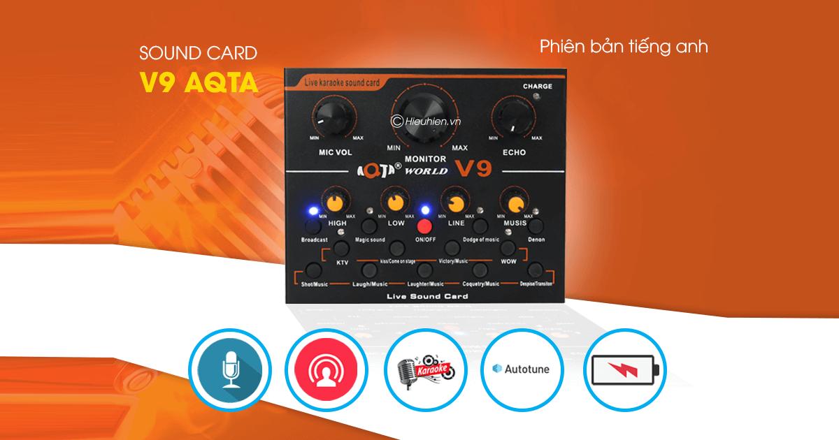 hướng dẫn chi tiết lắp đặt và sử dụng sound card v9 thu âm, livestream