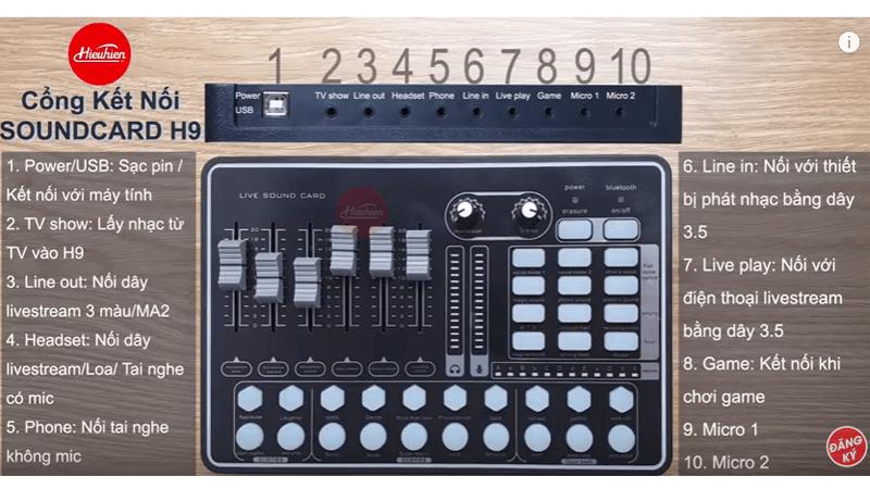 hướng dẫn lắp đặt và sử dụng sound card thu âm mkai h9 - hình 01