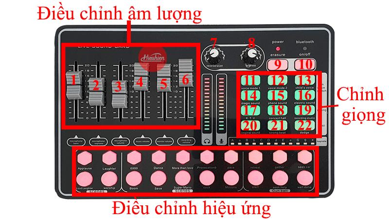 hướng dẫn lắp đặt và sử dụng sound card thu âm mkai h9 - hình 02