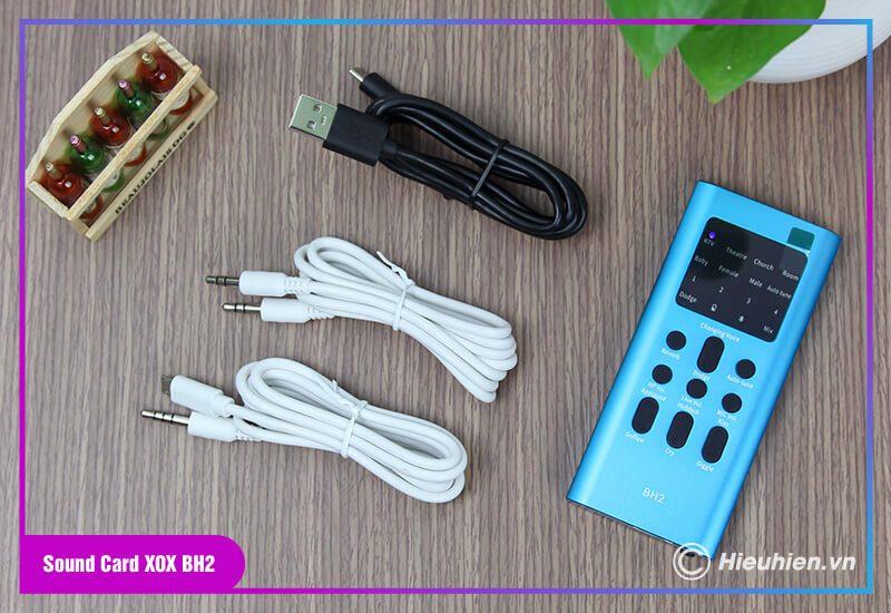 hướng dẫn lắp đặt và sử dụng sound card xox bh2 thu âm, livestream - hình 01