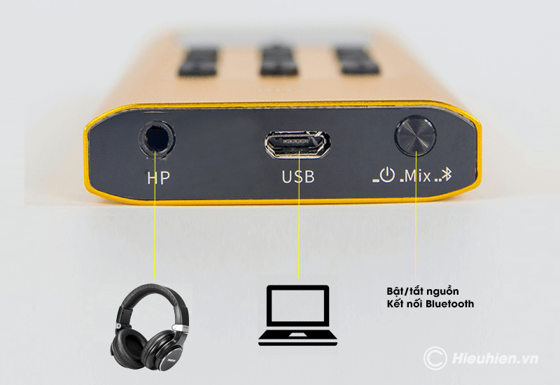 hướng dẫn lắp đặt và sử dụng sound card xox bh2 thu âm, livestream - hình 03
