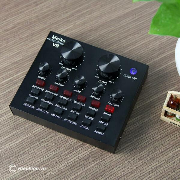 sound card v8 - bản tiếng việt, card âm thanh hát karaoke, livestream - hình 03