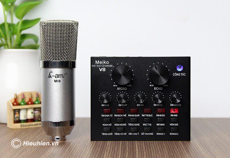sound card v8 - bản tiếng việt, card âm thanh hát karaoke, livestream - hình 10
