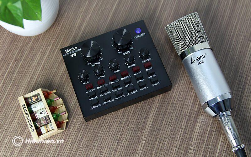 sound card v8 - bản tiếng việt, card âm thanh hát karaoke, livestream - hình 11