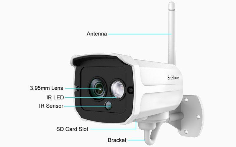 srihome sh024 1080p - camera ip wifi chống nước, quan sát ngoài trời - hình 16
