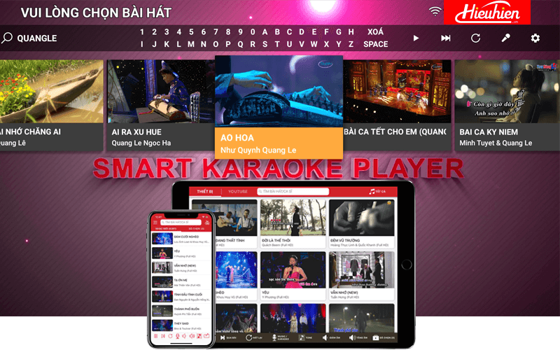 top 6 đầu karaoke thông minh cao cấp nhất hiên nay - chọn bài qua điện thoại