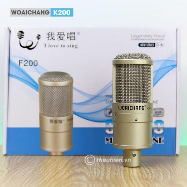 woaichang k200 - micro thu âm, hát karaoke, livestream chuyên nghiệp - hình 04