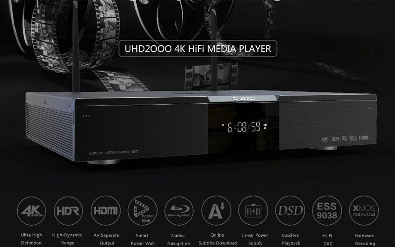 zidoo uhd 2000 - 4k av/hifi media player - đầu phát 4k hdr cao cấp - hình 02