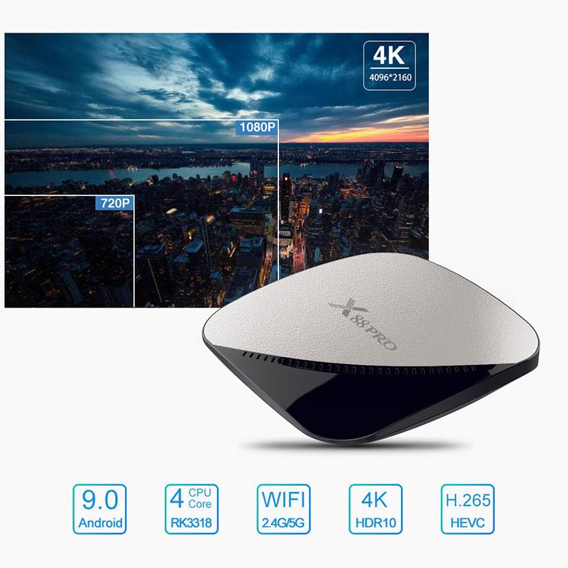 enybox x88 pro rk3318 4gb/64gb android 9.0 tv box 4k - hình 05