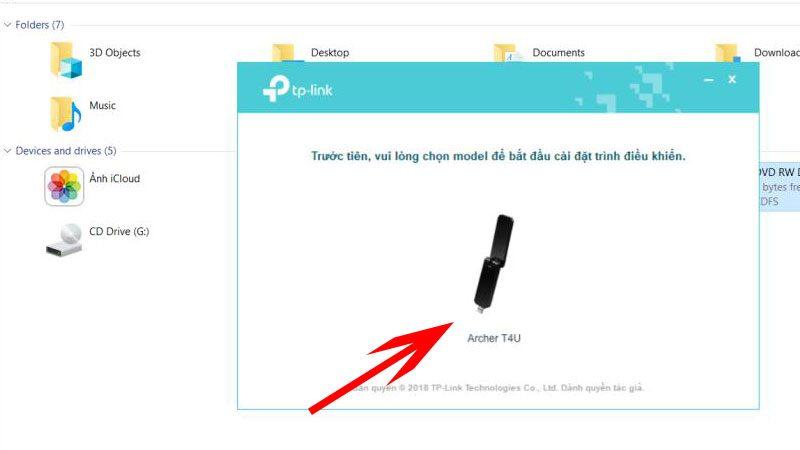 hướng dẫn cài đặt tp-link archer t4u - usb thu sóng wifi 2 băng tần - hình 04