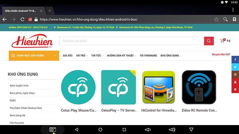 hướng dẫn điều khiển android tv box bằng điện thoại với cetusplay - hình 01
