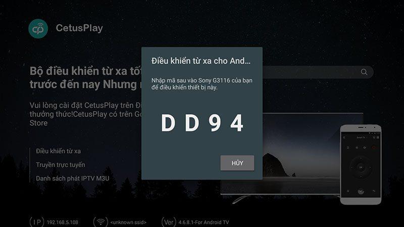 hướng dẫn điều khiển android tv box bằng điện thoại với cetusplay - hình 07